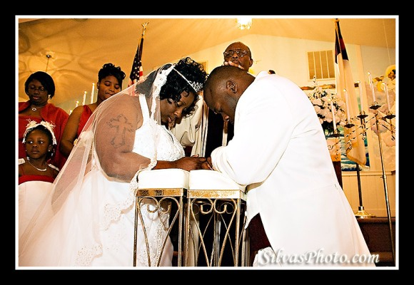 Bride and Groom praying