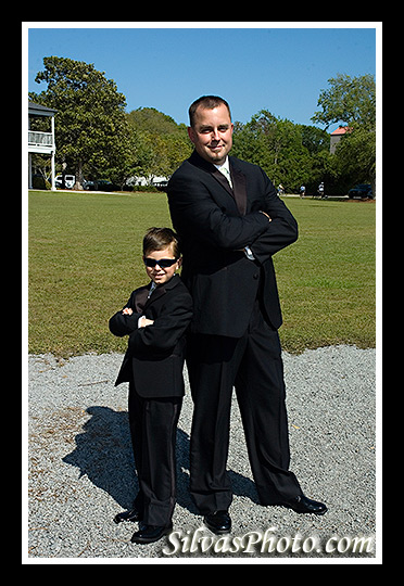boy and groom in Alhambra Hall in Mt. Pleasant, South Carolina