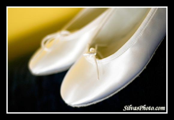 white bridal shoes in Charleston Harbor Resort and Marina, Mount Pleasant, South Carolina