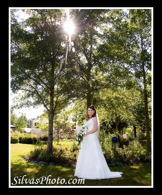 Bridal Portrait with Sun Flare