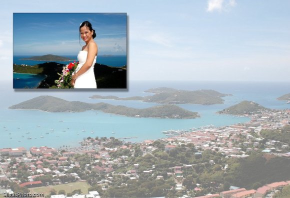 Bride In St Thomas, Caribbean Destination Wedding