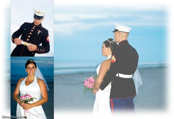 Hilton Head Island Beach Military Groom and Bride