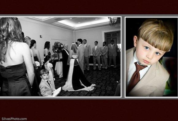 Boy during Wedding Ceremony Charleston Harbor Resort