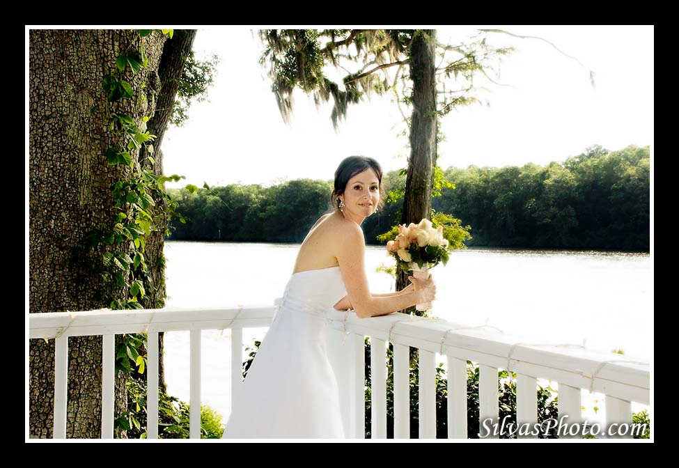 Bride in Balcony near River