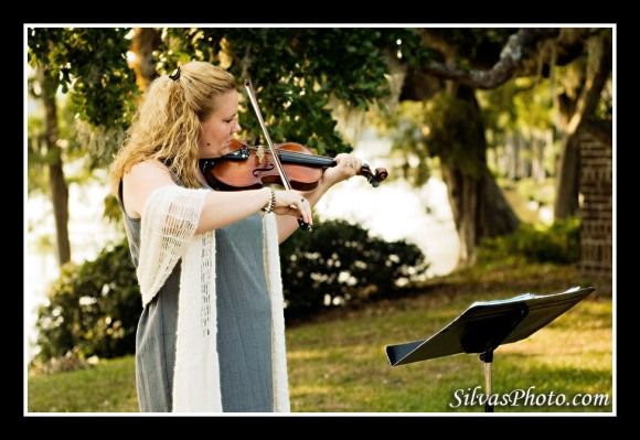 Violinist in Wedding Ceremony