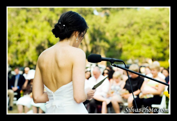 Bride reading passages