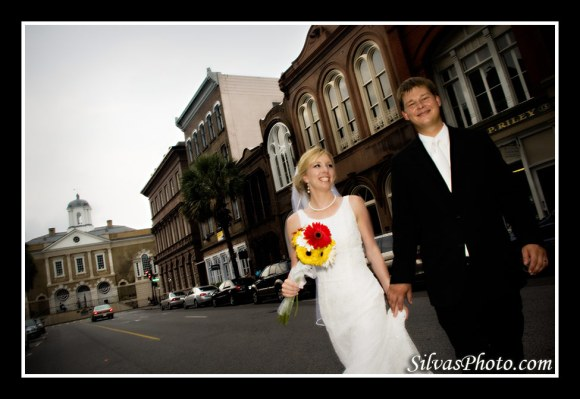 Brian Silvas - Bride and Groom walking