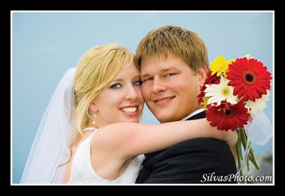 Brian Silvas - Bride and Groom with Bouquet