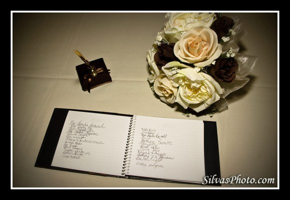 Wedding Guestbook and Bouquet