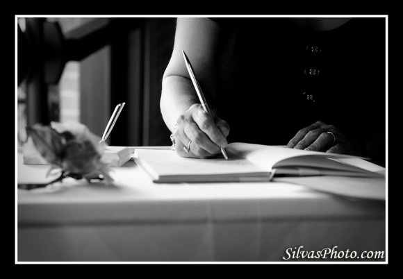 Signing the Wedding Guestbook