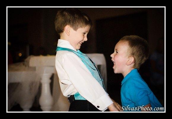 Kids shouting in dance floor