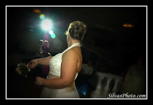 Bouquet Toss Backlit