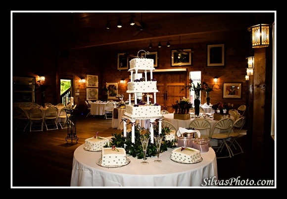 Cake and Reception Hall in The Barn at Valhalla