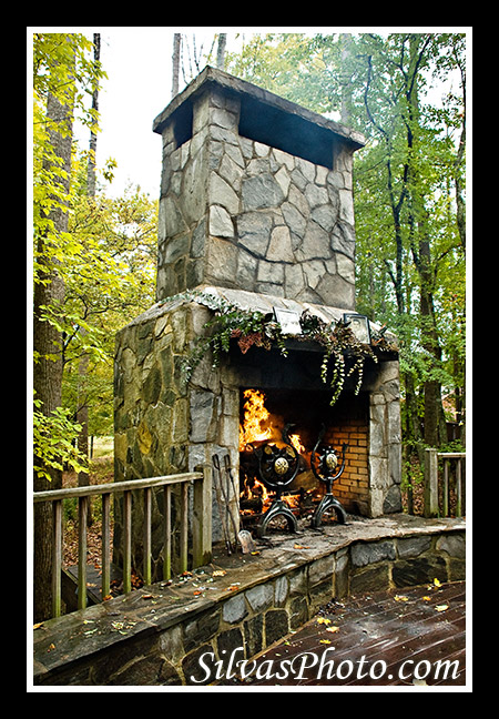 Fireplace at the Barn at Valhalla Silvas Photo