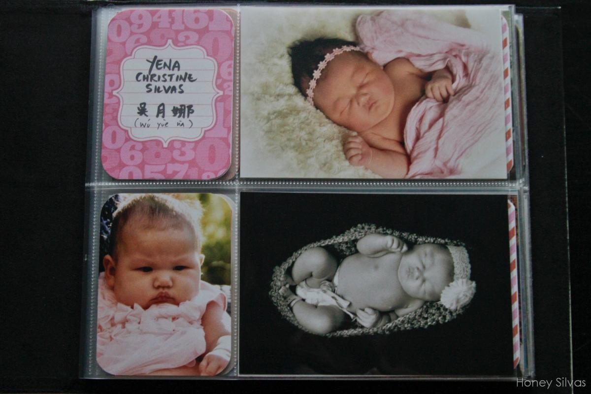 Project Life Baby Mini Album Title Page Honey Silvas