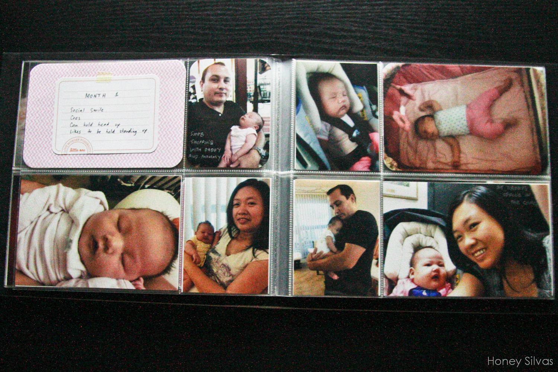 Project Life Baby Mini Album Month 1 Honey Silvas